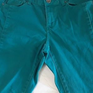 DKNY SOHO Skinny teal jeans Sz 6
